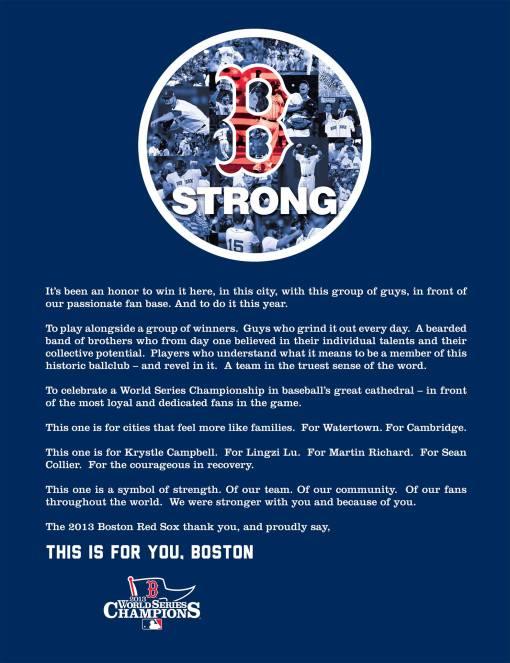 Boston Globe-Boston Strong
